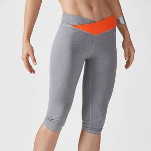 Fabletics Winn PowerHold Crop Leggings Gray small